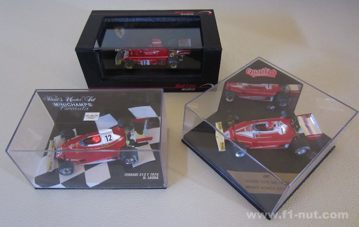 Lauda diecasts 1:43 scale compare