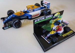 Exoto FW14B 1:18 vs Minichamps Fw14 1:43 scale Senna Taxi