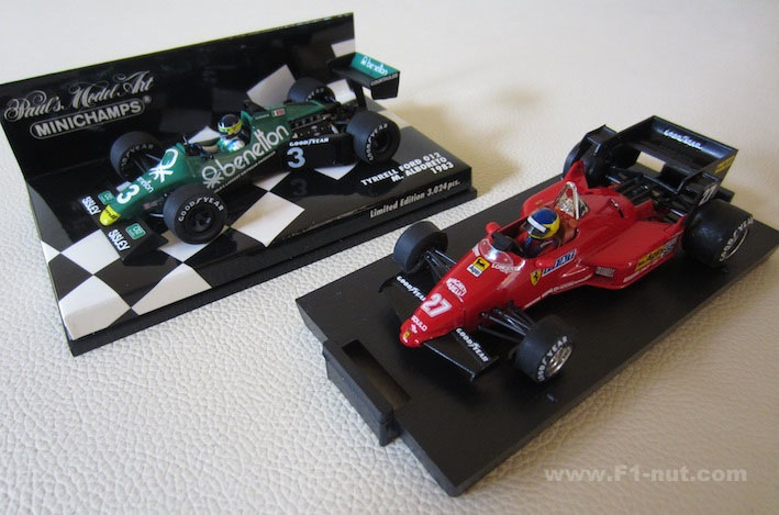 Brumm 126C4 Alboreto vs Minichamps Tyrrell Ford