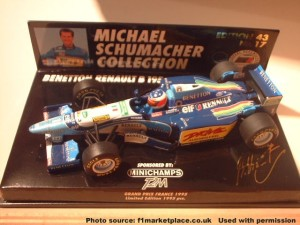 Minichamps 1:43 Michael Schumacher B195 No17w