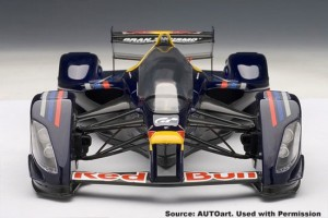 Autoart RedBull Vettel X2010 front view