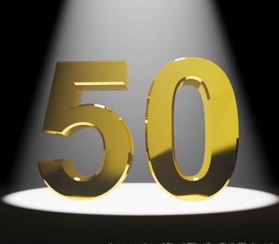 50 review milestone (image by Stuart Miles)