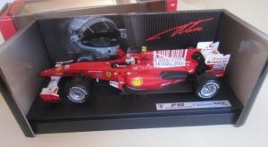 Hotwheels Alonso Ferrari F10 1:18