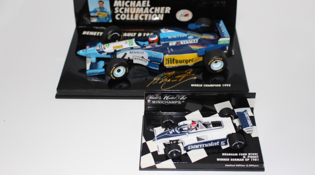 Minichamps Schumacher Bennetton B195 Piquet Brabham Ford BT49