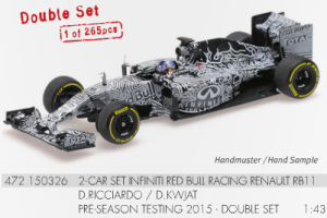 Minichamps resin Red Bull RB11 1:43