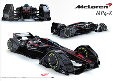 McLaren MP4-X minichamps
