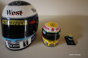 Hakkinen Hamilton Senna helmets