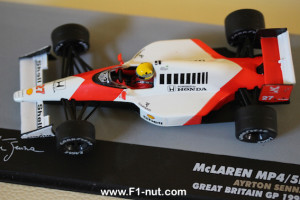 senna eaglemoss 1:43 mclaren mp4/5b