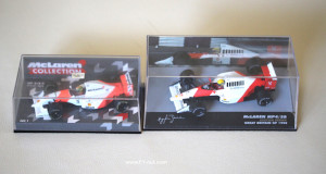 senna 1:43 eaglemoss vs minichamps