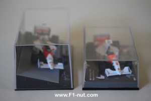 senna eaglemoss diecast vs minichamps