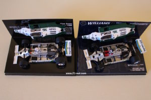 Old Reutemann FW07B alongside the Jones FW07B World Champions Collection 1:43 scale